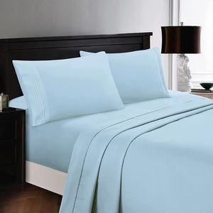 ⭐️SALE⭐️Full 6pc Ice Blue Bedsheets